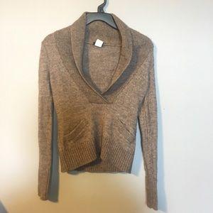 J.Crew Lofty Alpaca Shawl Collar Sweater